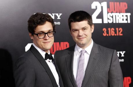Directors Lord and Miller pose at the premiere of