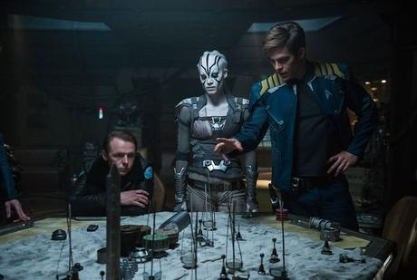 Star Trek Sans limites : Photo Chris Pine, Simon Pegg, Sofia Boutella